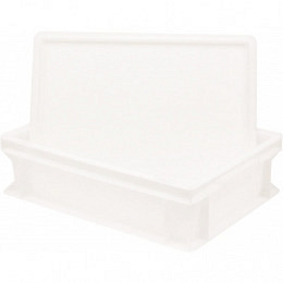 Pizza ball box (set of 1 with 1x lid) 30 x 40 x 10 cm